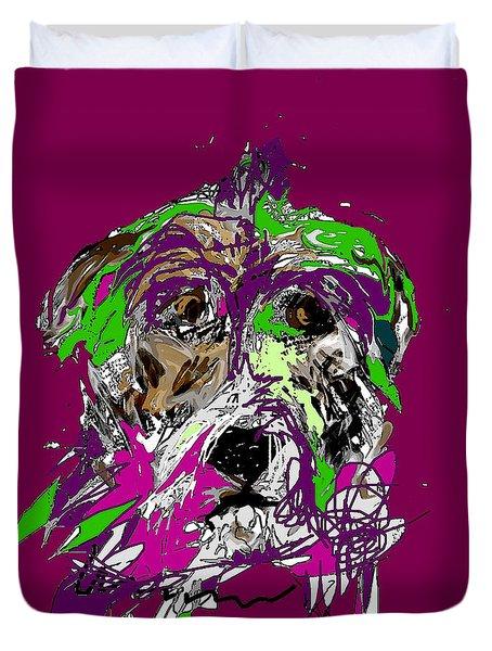 Purple Dog Duvet Cover