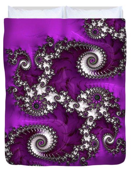 Purple Dragon Duvet Cover