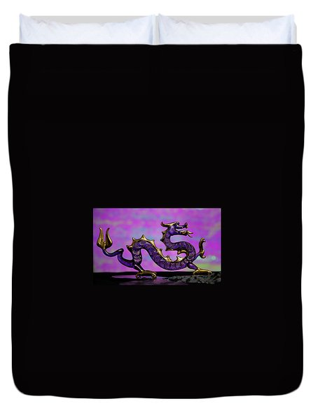 Purple Dragon Duvet Cover