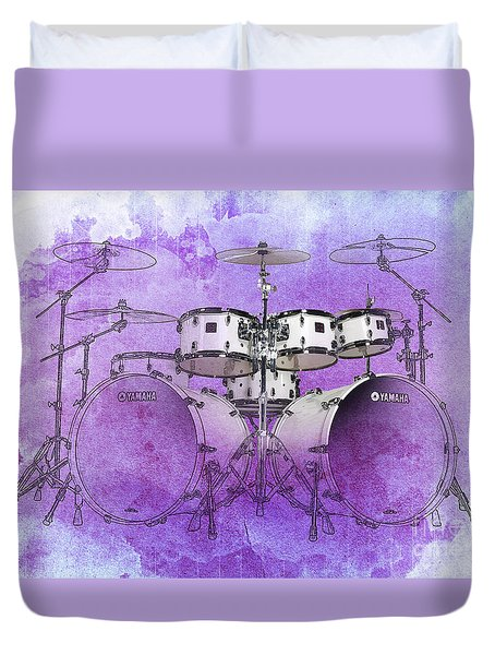 Purple Drums Duvet Cover