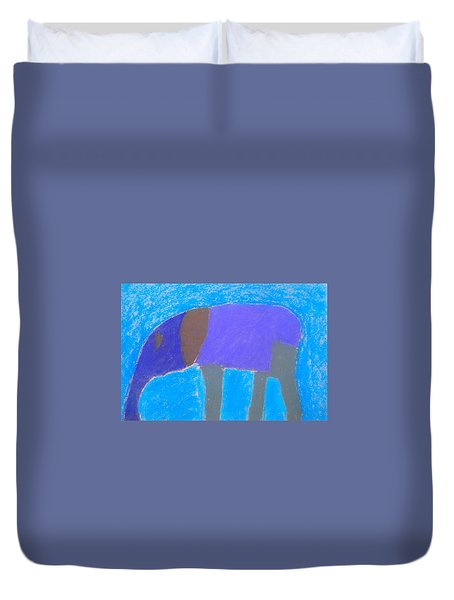 Duvet Cover featuring the pastel Purple Elephant by Artists With Autism Inc