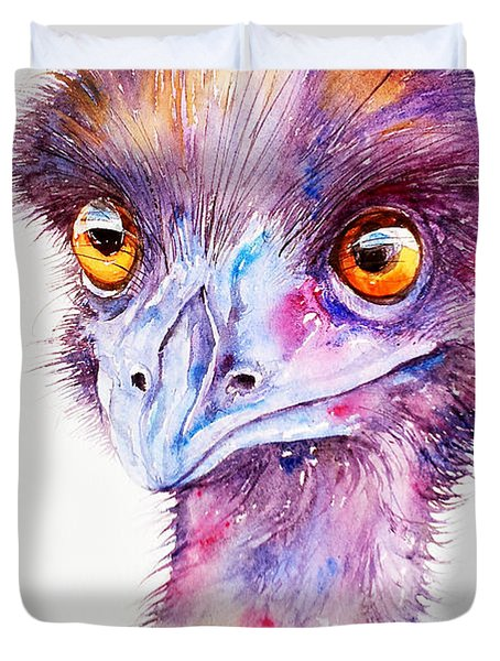 Purple Emu Duvet Cover by Arti Chauhan