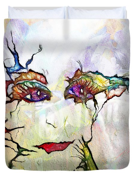 Purple Eyed Nymph Duvet Cover