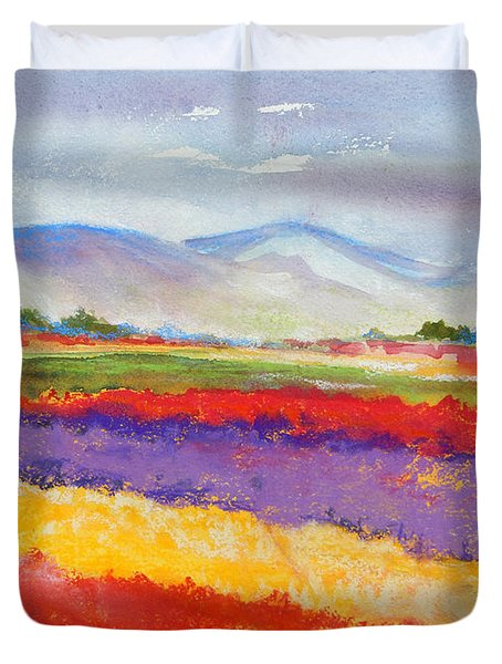 Purple Fields Duvet Cover