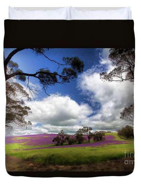 Purple Fields Duvet Cover by Douglas Barnard