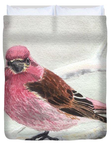 Purple Finch Duvet Cover