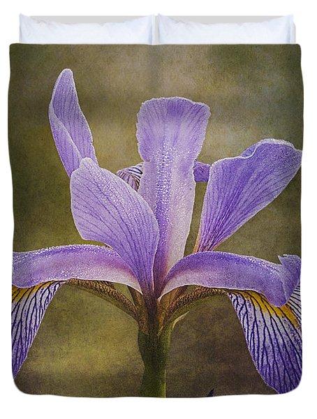 Purple Flag Iris Duvet Cover