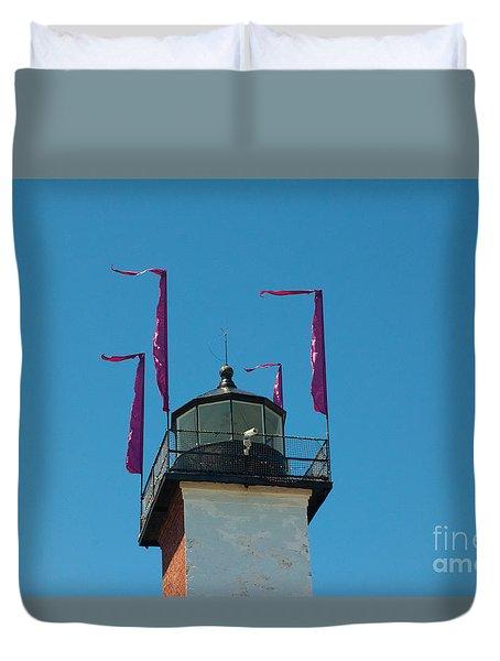 Purple Flags Duvet Cover