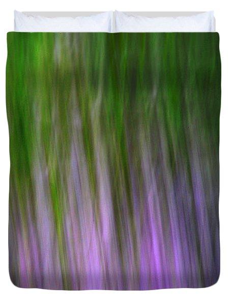 Purple Flames Duvet Cover