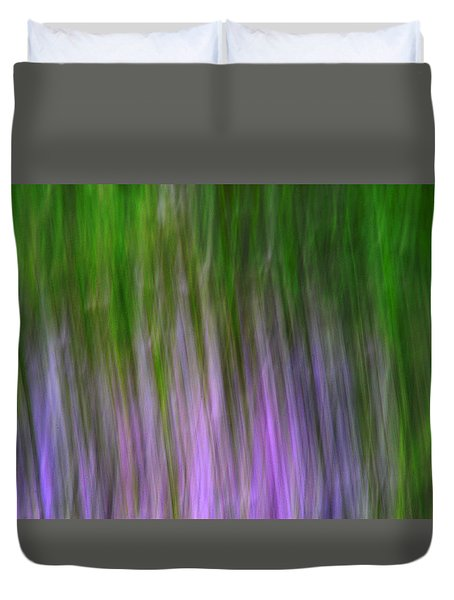 Purple Flames Duvet Cover