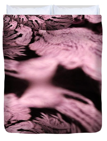 Duvet Cover featuring the photograph Purple Fleece Abstract by Skyler Tipton