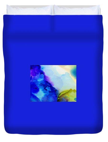 Purple Flow Duvet Cover