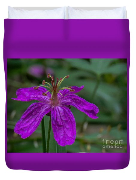 Purple Flower 5 Duvet Cover
