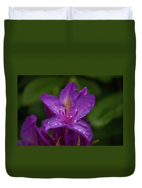 Purple Flower 7 Duvet Cover by Timothy Latta