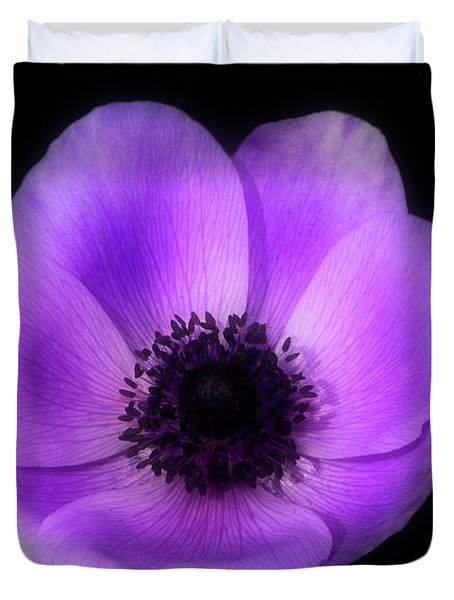 Purple Flower Head Duvet Cover