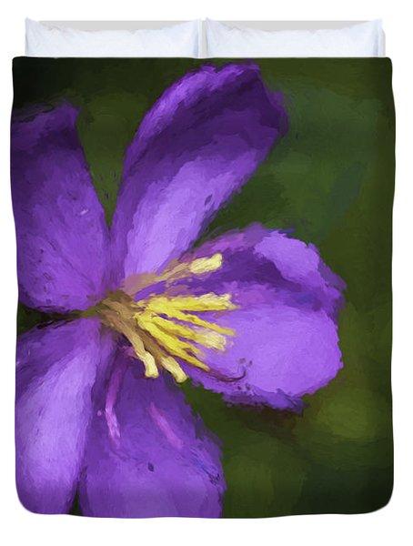 Purple Flower Macro Impression Duvet Cover