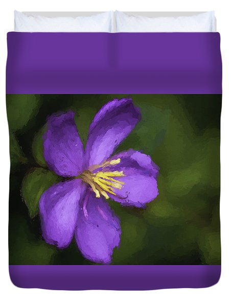 Purple Flower Macro Impression Duvet Cover