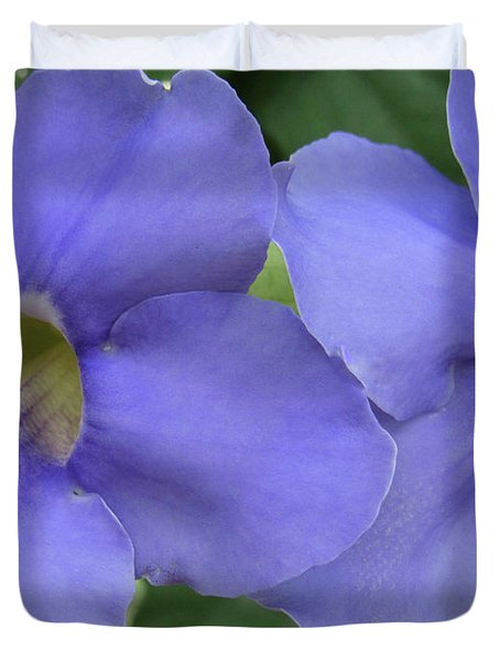 Purple Flower Picture Perfect Duvet Cover