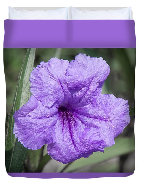 Purple Flower Duvet Cover