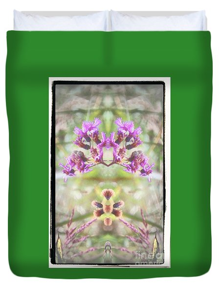 Purple Flower Split Duvet Cover