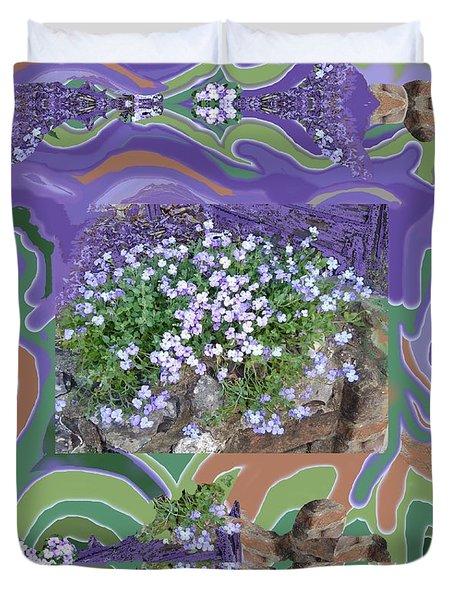 Purple Flower Textured Photo 1028d Duvet Cover