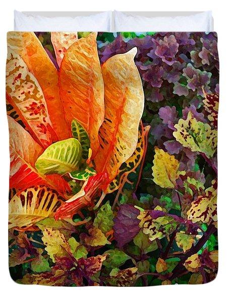 Purple Flowers Duvet Cover by Michael Thomas