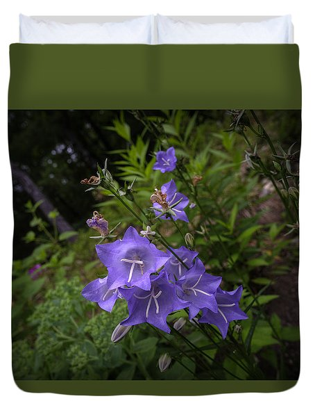 Blue Bellflowers Duvet Cover
