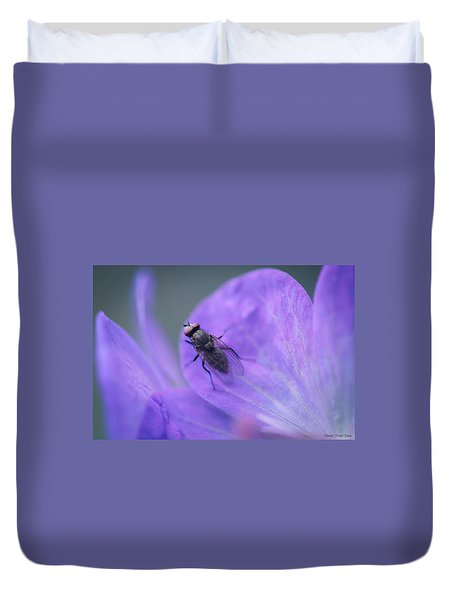 Purple Fly Duvet Cover