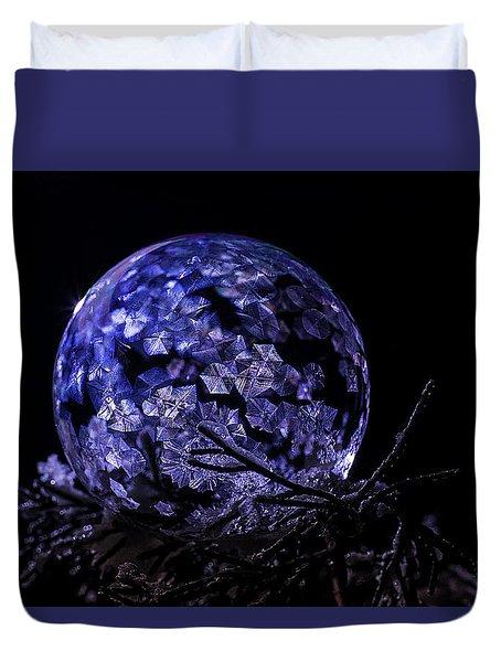 Purple Frozen Bubble Art Duvet Cover