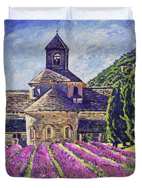 Purple Gardens Provence Duvet Cover