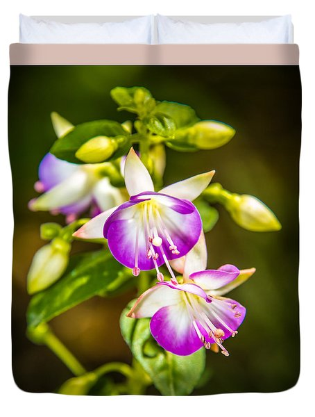 Duvet Cover featuring the photograph Purple Glow by Jerry Cahill