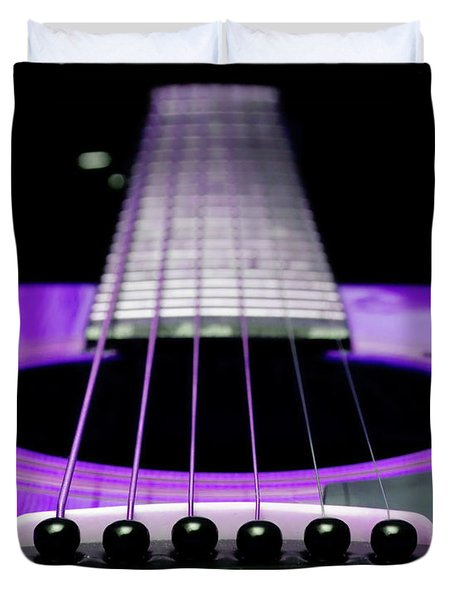 Purple Guitar 15 Duvet Cover
