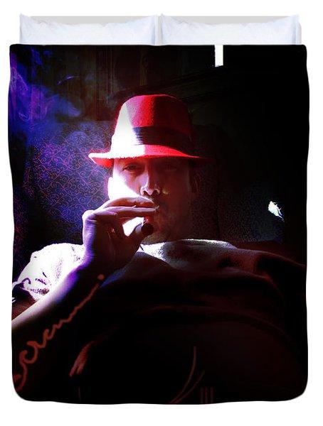 Purple Haze Boss  Duvet Cover