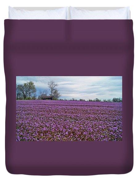 Duvet Cover featuring the photograph Purple Haze by Cricket Hackmann