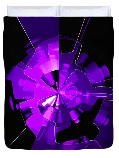 Purple Haze Wheels Duvet Cover