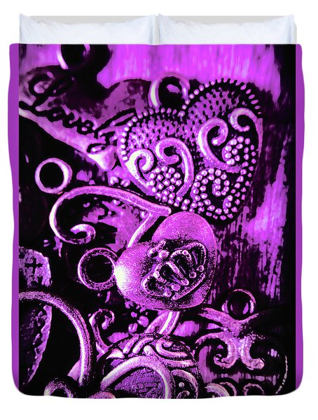 Purple Heart Collection Duvet Cover