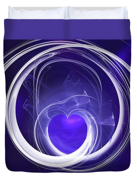 Purple Heart Duvet Cover