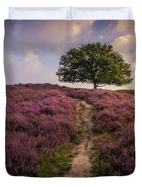 Purple Hill Duvet Cover