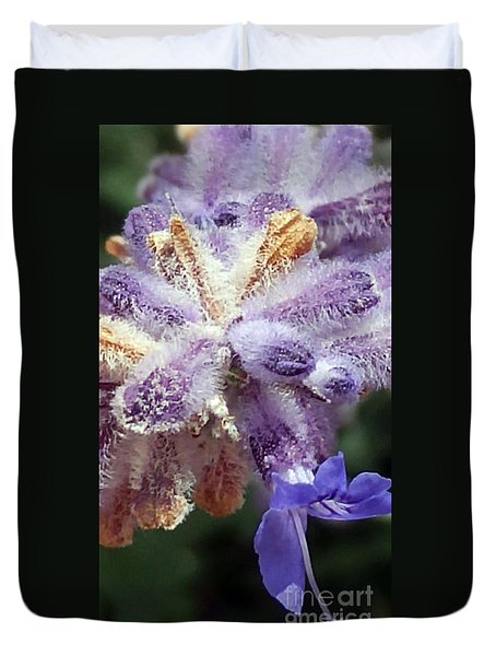 Purple Iced Blue New Mexico Wildflower Duvet Cover