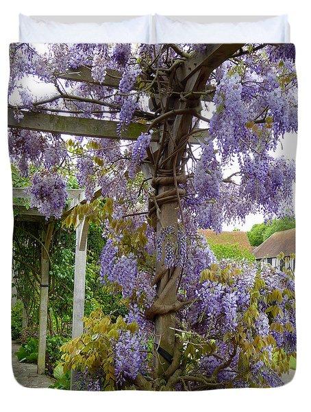 Purple In Priory Park Duvet Cover