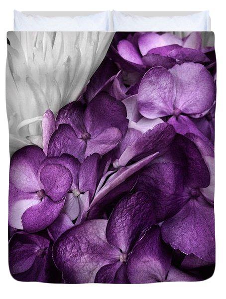 Purple In The White Duvet Cover