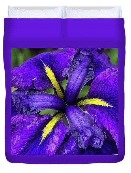 Purple Iris Centre Duvet Cover
