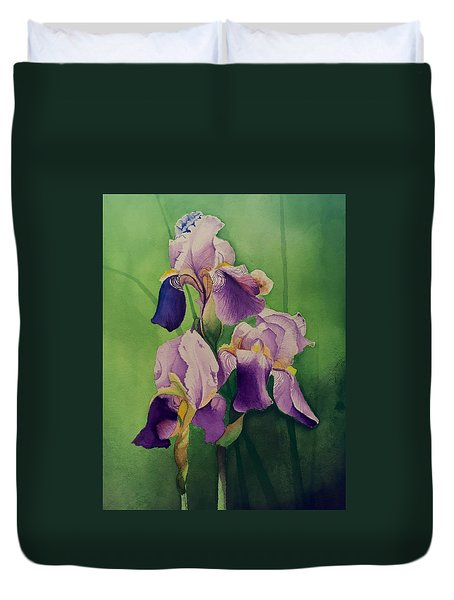 Purple Iris' Duvet Cover