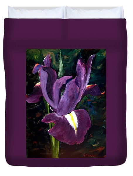 Purple Iris Duvet Cover by Heidi Patricio-Nadon