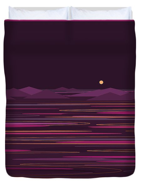 Purple Isles Duvet Cover by Val Arie