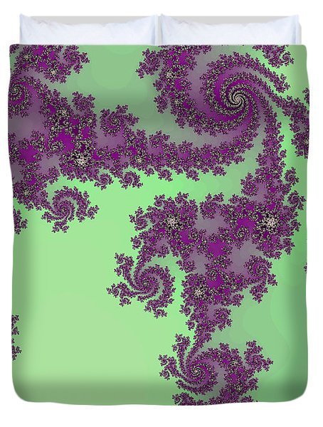 Purple Lace Duvet Cover