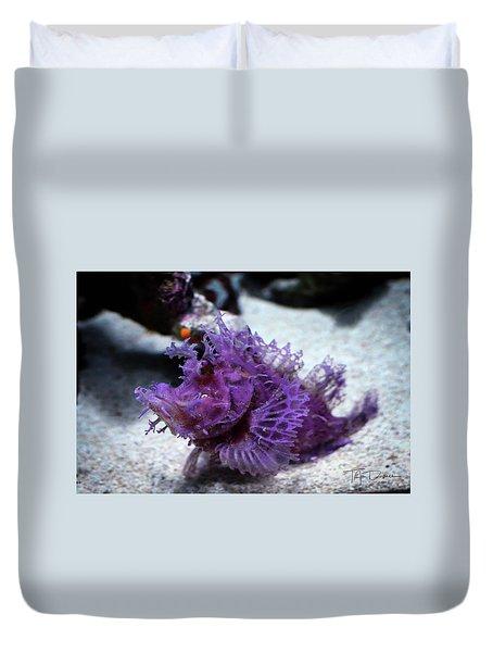 Purple Lace Duvet Cover