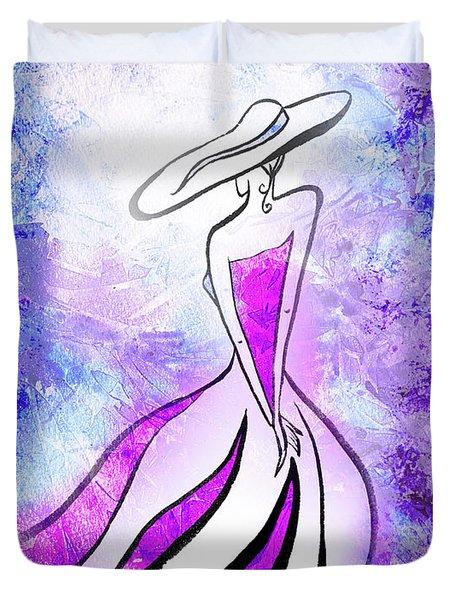Purple Lady Charm Duvet Cover