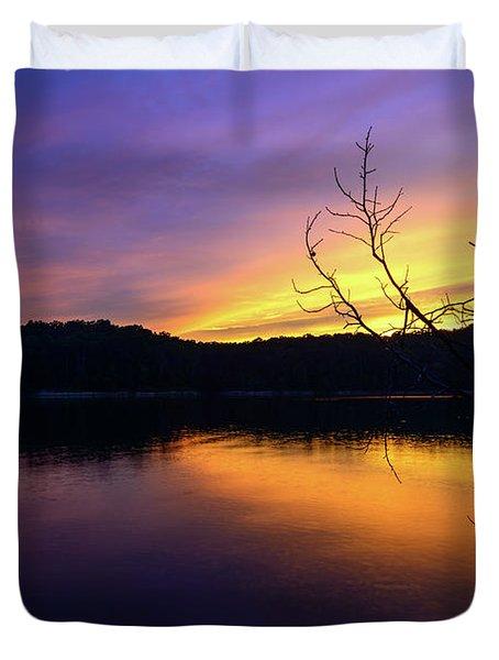 Purple Lake Duvet Cover