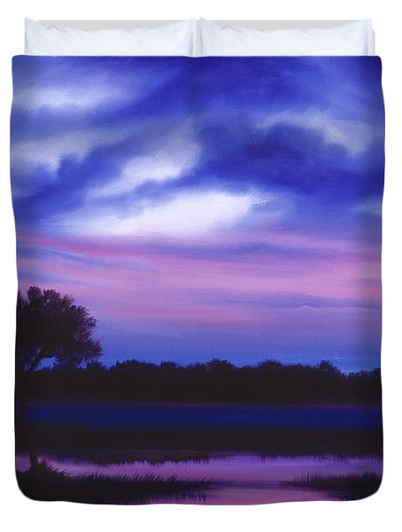 Purple Landscape Or Jean's Clearing Duvet Cover